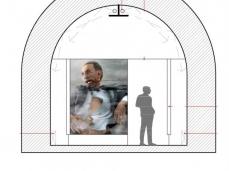 belluno bunker in via vittorio veneto - project idea, section