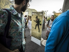 """""""the inner outside (bivouacs)"""", opening at the nuovo spazio di casso, July the 18th - photo by giacomo de donà"""