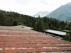 former eni village of borca di cadore_on the dining hall's roof, looking towards the church of our lady of the cadore - photo by sergio casagrande