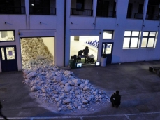 dc next - blocco taibon - agner- installazione di hubert kostner/galleria goethe bolzano/dc/salewa - foto e. bertaglia
