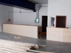 allestimento del nuovo bar interno