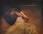 manuele cerutti, la lucidità, olio su lino, 42x50 cm, 2011, foto e. bertaglia