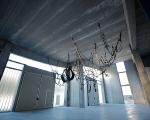 michelangelo penso, grande batterio quasi mostro, 2011, gomma antiolio, alluminio, acciaio, 12.5 x 3.5 x 4 mt, courtesy Galerie Alberta Pane, Parigi, foto a. montresor