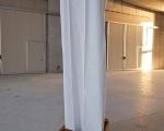nicola genovese, shelter 2011, comodino e tenda per doccia, 47x60x200 cm, courtesy dell'artista, foto a. montresor