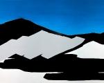 priscilla tea - untitled (mountain II), 2011, acrylic and paste on canvas, 200x300