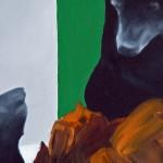 diorama (asiatic black bear), Olio su tela, 80x100 cm, 2011 (part.) - foto a. montresor