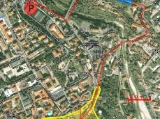 bunker via vittorio veneto belluno_ubicazione urbana_schema bunker (arch. luca de moliner)