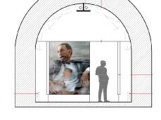 bunker via vittorio veneto belluno_sezione bunker (progetto arch. luca de moliner)
