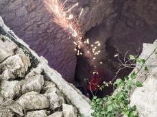 fuocoapaesaggio - la performance di mario tomè con demis.  foto: nicola noro