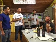 iTre ad un evento di Progettoborca, al Campeggio dell'ex Villaggio Eni con l'artista romano Simone Cametti