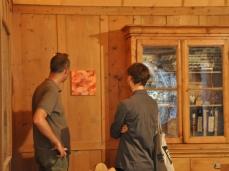 """opening """"La cura dello sguardo""""_il lavoro di Gabriele Grones inserito nella ricostruzione dello studio di Rinaldo Zardini_Museo Paleontologico Rinaldo Zardini di Cortina_foto Elisa Bertaglia"""