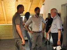 """Renato Barilli all'opening di """"La cura dello sguardo""""_Museo Paleontologico Rinaldo Zardini di Cortina_foto Elisa Bertaglia"""