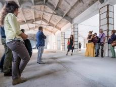 Ex Cartiera di Vas, Opening Paper weight, nell'hangar, Phillippa Peckham presenta alcuni lavori installati.   Foto: Giacomo De Donà