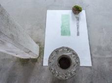 Ex Cartiera di Vas, Opening Paper weight, intervento a 6 mani nella stanza di B. Meoni - Il ventre dell'acqua  Foto: Giacomo De Donà