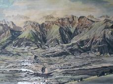 una mappa fossile della valbelluna, appesa oggi nel brigata di ieri