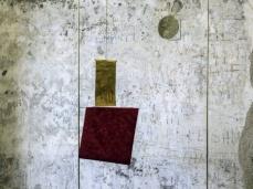 David Casini, ritratto di Filippo secondo in armatura, 2017, ottone, plexiglas, stampa UV, carta velluto, legno,190x 90×15 cm, opera inserita in Fuocoapaesaggio. Foto Giacomo De Donà