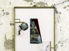 David Casini, Ritratto di Vincenzo Cappello, 2017, ottone, vetro, acrilico, stampa UV, carta velluto, 50x40x2,5 cm, opera inserita in Fuocoapaesaggio. Foto Giacomo De Donà