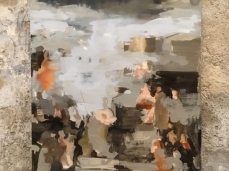 Nazzarena Poli Maramotti, Pesaro, tecnica mista su tela, 175 x 125 cm, 2018, opera inserita in Brain-tooling. Foto Giacomo De Donà
