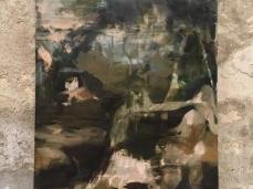 Nazzarena Poli Maramotti, Girolamo, tecnica mista su tela, 175 x 125 cm, 2018, opera inserita in Brain-tooling. Foto Giacomo De Donà