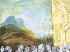 Andrea Visentini, Senza titolo (La Presentazione di Maria al Tempio), acquerello e tempera su carta, 50x70cm, 1991_Foto Giacomo De Donà