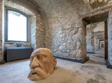 Fabiano De Martin Topranin, ll sogno di Tiziano, cedro hymalaiano, 123 x 92 x 70 cm, 2018, opera inserita in Brain-tooling. Foto Giacomo De Donà