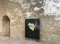 Andrea Grotto, Fiero Amor. Tizio e Margherita, olio su tela, 170 x 135 cm, 2018, opera inserita in Brain-tooling. Foto Giacomo De Donà