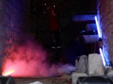 fuocoapaesaggio - la performance di mario tomè con demis. foto: brando prizzon