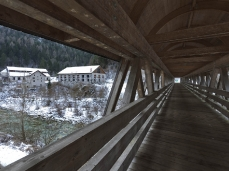 valle imperina, ponte d'accesso, foto giacomo de dona