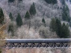valle imperina, ponte d'accesso all'area, foto giacomo de dona
