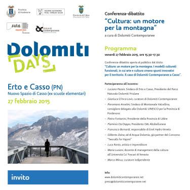 Invito Casso 27 febbraio_Cultura, un motore per la montagna