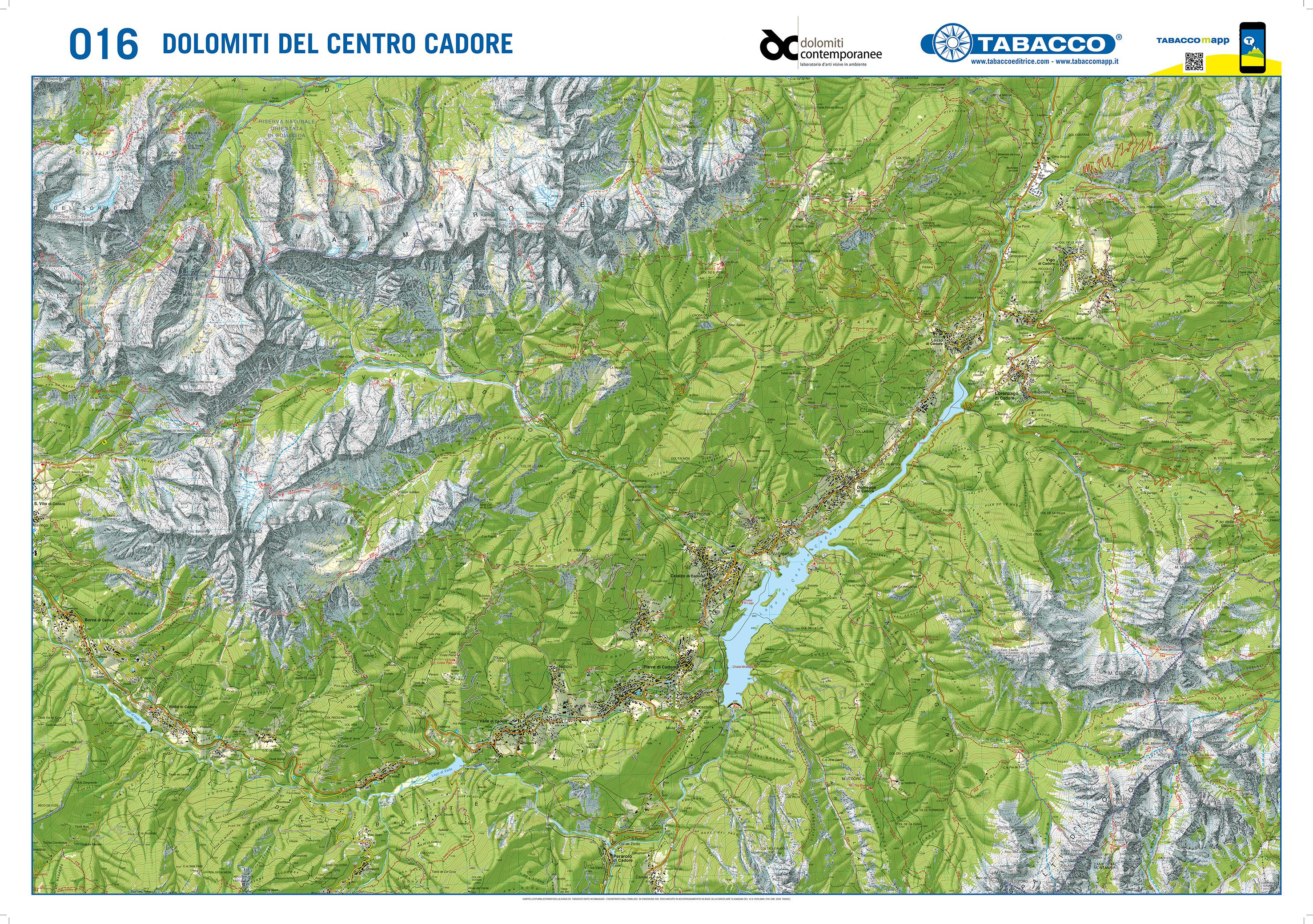 Cartina Tabacco 019.Tabacco Le Mappe Del Territorio Dolomitico Contemporaneo Dolomiti Contemporanee